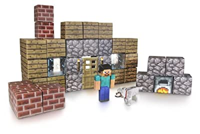 Minecraft Papercraft Shelter Set from Jazwares Domestic