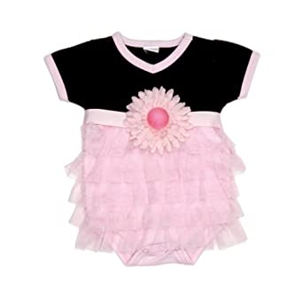 Mud Pie Perfectly Princess Fancy Baby Girls Onesie Crawler Bodysuit (9-12 Months)