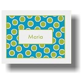 Paparte Note Cards Polka Dot Name