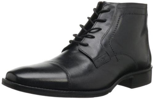 Johnston & Murphy Men's Larsey Cap Toe Riding Boot,Black Italian Calfskin,13 M US