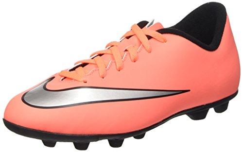 Nike Jr Mercurial Vortex II Fg-R Scarpe da calcio allenamento, Unisex bambini, Multicolore (Brght Mng/Mtllc Slvr-Hypr Trq), 35