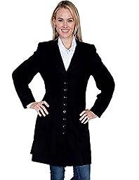 Scully Women\'s Wool Frock Coat Black 18