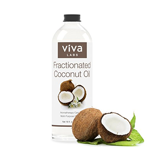 Viva Labs Fractionated Coconut Oil, 16 oz - Ultra Hydrating Massage & Aromatherapy Must-Have, Hexane-Free