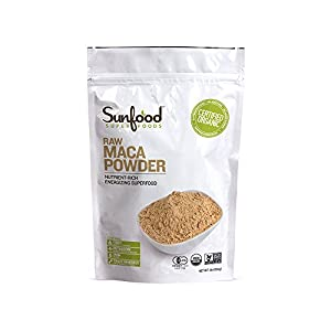 Sunfood Maca Powder, Certified Organic, Non-GMO Verified, Vegan, Raw, 1lb