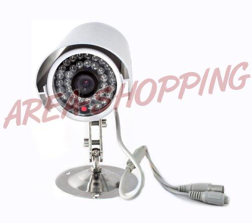 TELECAMERA VIDEOSORVEGLIANZA INFRAROSSI NOTTURNA 36 LED CCD COLORI ESTERNO 3,6mm