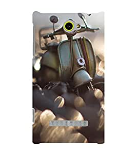 EPICCASE Vintage scooter love Mobile Back Case Cover For HTC One M10 (Designer Case)