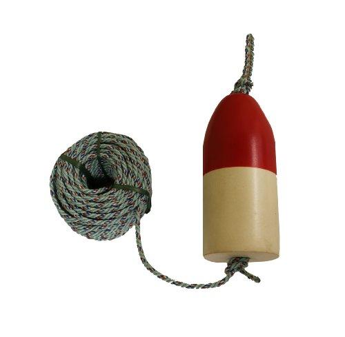 KUFA 100' leaded core rope & 11'' Red/White float combo FWL-100