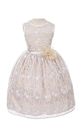 Kids Dream Girls Lace Tea Length Flower Dress