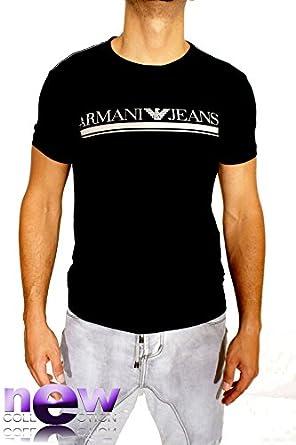 Emporio Armani - T-Shirt Armani Jeans manches courtes Homme - Modèle T6h33 - Noir - Taille XL