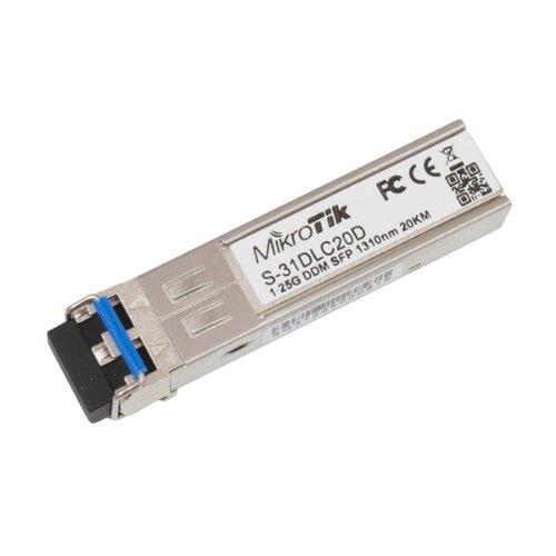 MikroTik RouterBOARD S-31DLC20D 1.25G SFP-Transceiver, Dual-1310 LC-Stecker, für bis zu 20 Kilometer Single Mode Glasfaser-Verbindungen