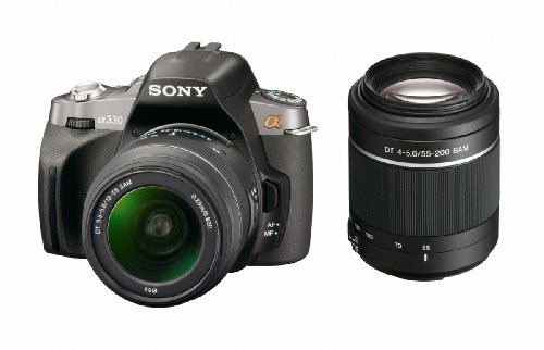 Sony Alpha DSLR-A330 (with 18-55mm and 55-200mm Lenses) is one of the Best Sony Digital SLR Cameras Overall Under $800