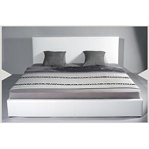 amazon simple bett designer lederbett leder tex bett 140 x 200 weiss textilleder mit holz. Black Bedroom Furniture Sets. Home Design Ideas