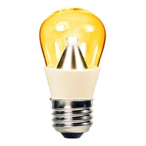 1.3 Watt - Led - S14 - Amber - 25 Lumens - 15 Watt Equal - 110-220 Volt - Dynasty 31027-A