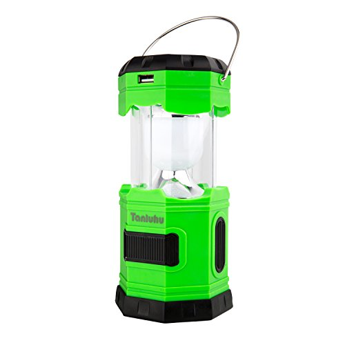 Solar Rechargeable Camping Lantern, Tanluhu 180 Lumen Collapsible