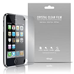 elago Crystal Clear Film Set for iPhone 3G + Microfiber Cleaner (Made in USA)