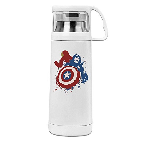 Shining Star America Superheros Civil War Cap Vs Lord Robot Man Paints Transparent Cover Vacuum Cup White