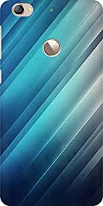 AMEZ designer printed 3d premium high quality back case cover for Letv Le 1S (abstract blue shades)