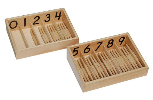 Montessori Spindle Box With 45 Spindles