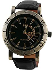 Watch Me Black Genuine Leather Analogue Watch For Men WMAL-081-B - B01L01OMMY