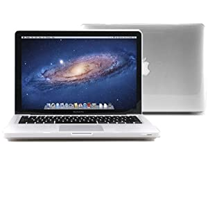 """GMYLE Transparent Rubberized-see-through Hard Case Skin for 13"""" Apple Macbook Pro"""
