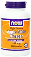 Now Foods Apple Cider Vinegar, 450 mg…