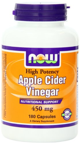 Now Foods Apple Cider Vinegar, 450 mg Capsules, 180-Count