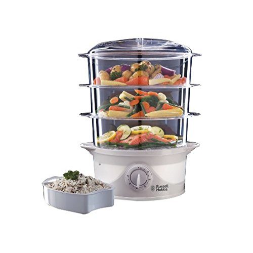 russell-hobbs-21140-three-tier-food-steamer-9-l-800-w-white