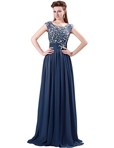 Grace Karin Women's Chiffon Beaded Elegant Evening Wedding Dresses