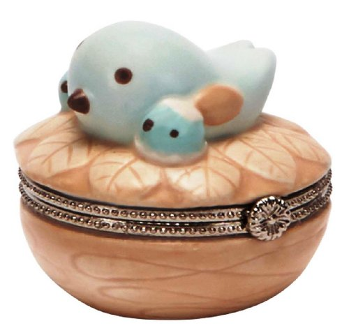 C.R. Gibson Nest Ceramic Trinket Keepsake Box - 1