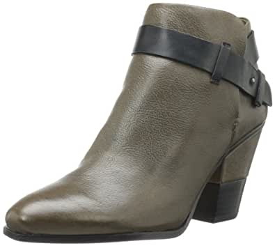 Dolce Vita Women's Hilary Bootie,Olive Leather,9.5 M US