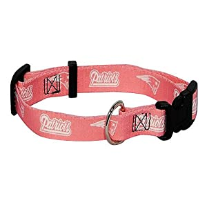 Hunter MFG New England Patriots Pink Dog Collar, Small