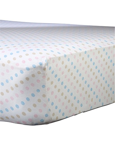 "Abstract Baby Polka Dot Print Extra Deep Fitted Jersey Crib Sheet (24"" x 38"", Multi-Color)"