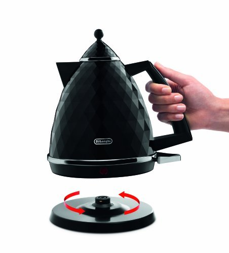 2 X De'Longhi Brillante Faceted Jug Kettle, 3 Kilowatt - Black - KBJ 3001.BK from Delonghi