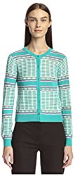 M Missoni Women's Cardigan Sweater, White/Multi, 40 IT/6 US