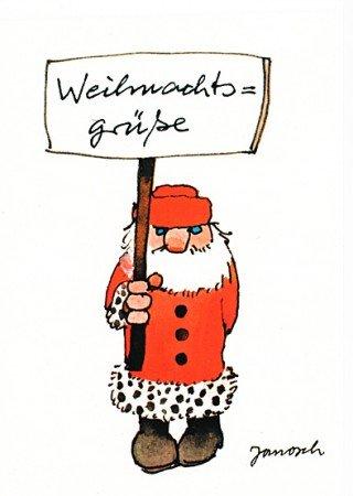 Janosch WeihnachtsPOSTkarte Grimmige Weihnachtsgrüße