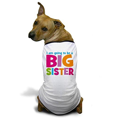 CafePress - Big Sister Personalized Dog T-Shirt - Dog T-Shirt, Pet Clothing, Funny Dog Costume (Dog Big Sister Shirt compare prices)