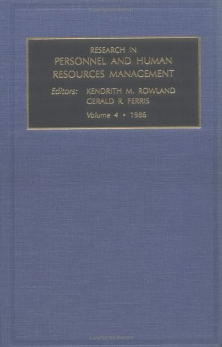 Research in personnel and human resources, Volume