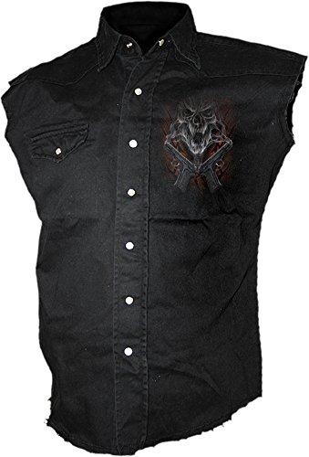 Spiral Street Reaper Camicia senza maniche nero M