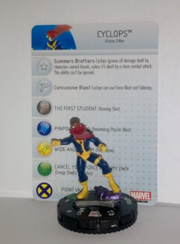 Marvel Heroclix Wolverine and the X-Men #016 Cyclops with Card - 1
