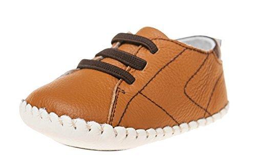 Petit Bleu Agneau Chaussures Marchettes Pour Bébés Chaussures Espadrilles 3123 brun