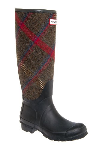 Original Check Tall Low Heel Rain Boot