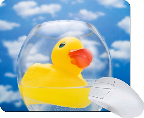 Rikki Knighttm Yellow Rubber Duck - Plastic Bath Toy Lightning Series Gaming Mouse Pad front-661259