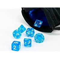 Polyhedral Dice Set | Blue Translucent | 7 Piece | PRISTINE Edition | FREE Carrying Bag | Hand Checked Quality...