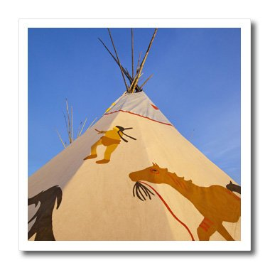 Ht_91928_2 Danita Delimont - Native American - Native American Teepee, Browning, Montana - Us27 Cha2006 - Chuck Haney - Iron On Heat Transfers - 6X6 Iron On Heat Transfer For White Material front-95869
