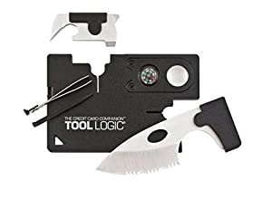 Tool Logic CC1SB Credit Card Companion with 9 Tools, Black