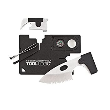 SOG Credit Card Companion with Lens/Compass ToolLogic CC1SB - 9 Tools, Black, 2