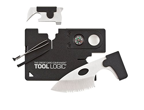 Tool Logic CC1SB Credit Card Companion with 9 Tools, Black