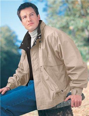 Premium Quality Men's 65% Polyester/35% Cotton Panorama Jacket - Khaki/Black, 4XL