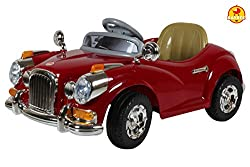 Baybee Classic Vintage Breaker Battery Operated Car (Red)