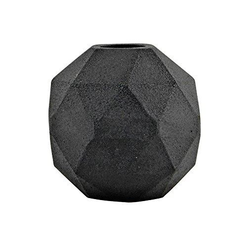 HOUSE DOCOTR Ed0111 Vase 'Poly', 9X9cm, Modern, Farbe:schwarz
